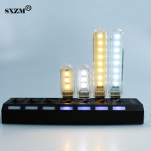 SXZM 2pcs/Lot 5730 Mini led USB Lamp 30mm or 100mm 3leds or 8 leds portable Lighting Computer Small Night Light(China)