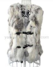 YR062 New style scrap real rabbit fur vest ~wholesale~retail(China)