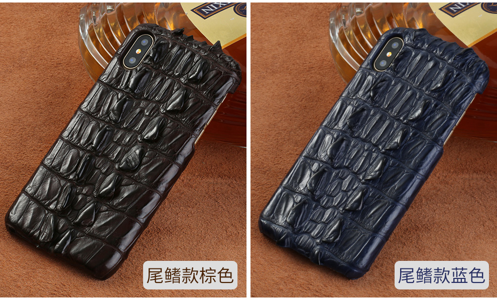 LANGSIDI Genuine crocodile leather 3 kinds of styles  Half pack phone case For iphone 7Plus All handmade can customize the model
