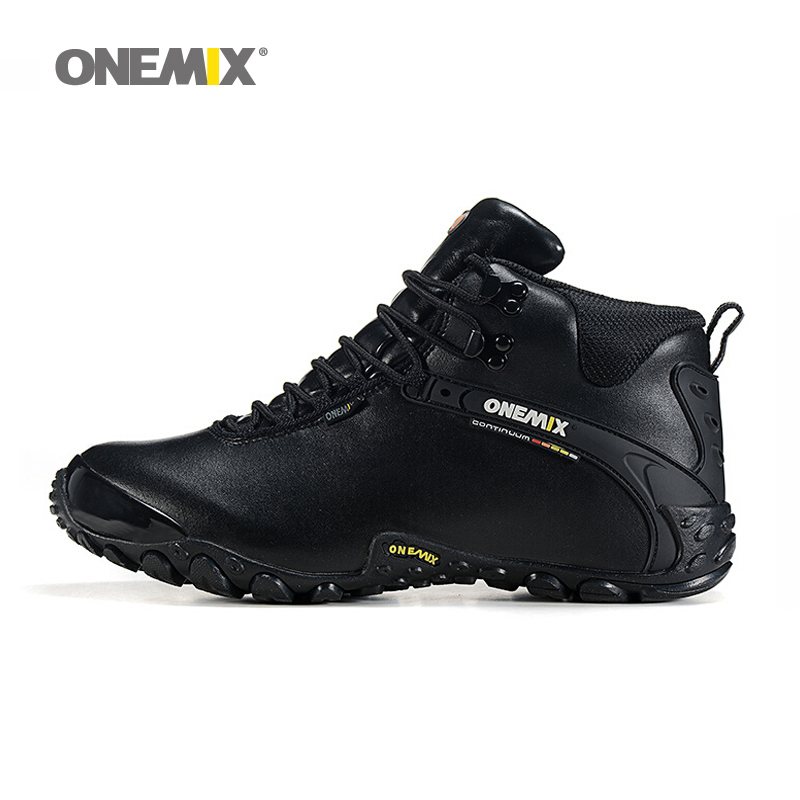 2016 New arrival autumn winter onemix mens anti slip outdoor sport shoes and wool lining women hiking shoes warm trekking shoes<br>