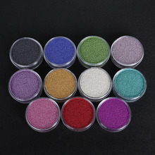 0.6~0.8mm Metallic luster AB Color Art Trend Caviar Glitter Rhinestones Manicures Nail Micro Small Beads Accessories No Hole(China)