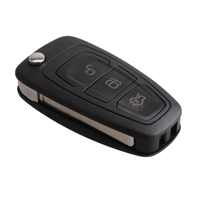 3 Ons Replacement Keyless Entry Fob Flip Folding Remote Key 433mhz 4d63 Chip For Ford Focus