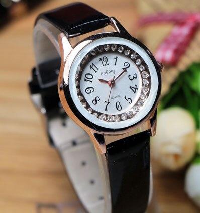 2016 New Arrive Gogoey Brand crystal leather watches women lady fashion casual quartz wrist watch clock 114<br><br>Aliexpress