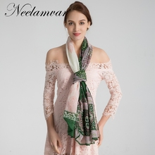Neelamvar Brand Classical pattern scarf women Chinese national style porcelain printe scarves ladies long shawl big size hijabs(China)