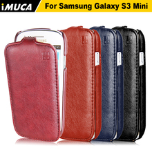 IMUCA Luxury flip leather case For Samsung Galaxy S3 mini I8190 Cover Vertical phone cases accessories Shell Holster Bag