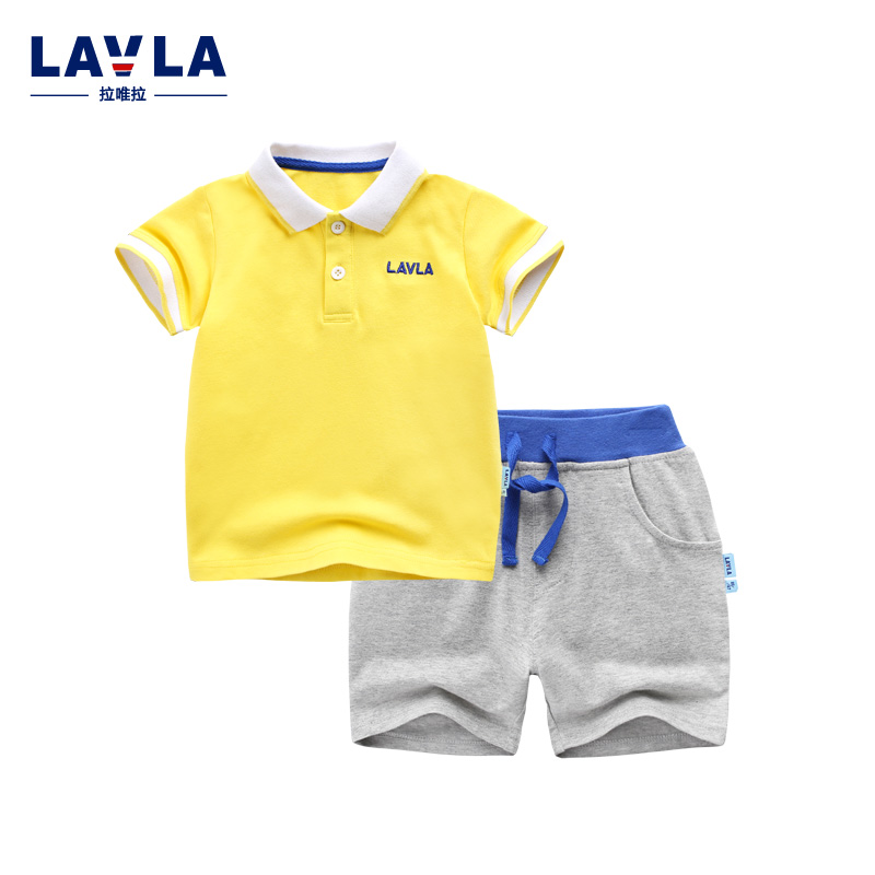 Lavla 2016 Summer Baby clothes sets girls clothing sets baby boy clothing set fashion polo shirt +pants sets baby outerwear<br>
