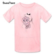 Ale Sugar Skull T Shirt Baby Pure Cotton Short Sleeve Round Neck Tshirt Children Tees 2017 Custom Made T-shirt For Boys Girls