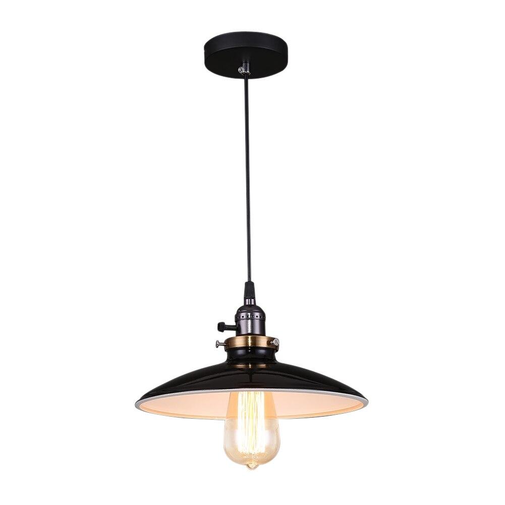 Loft pendant light Black Iron Lampshade Abajur Hanging Lamp Retro Industrial E27 Home Light Pendant Lamp Lamparas Luminaire<br>