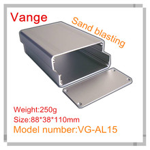 1pcs/lot Silvery injected aluminum enclosure diy 6063-T5 aluminum project box 88*38*110mm for power supply housing