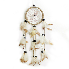 Handmade Dream Catcher Net With Feathers Beads for Wall Hanging Decoration Home Room Decor Craft Mascot Gifts(China)