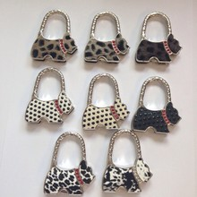 Bag Look Cute Purple Metal Foldable Bag Purse Hook Bag Hanger/Purse Hook/Handbag Holder Bling Bag Folding Table Rhinestone 8pcs