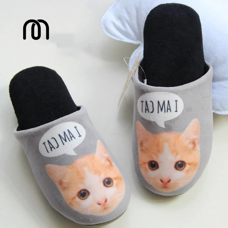 Millffy autumn &amp; winter indoor home cotton slippers cat lady slippers breathable soft-soled Pregnant woman shoes<br><br>Aliexpress