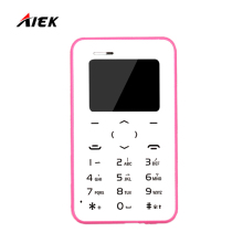 2017 New Card Phone AIEK/AEKU Q2 Mini Ultra Thin Cell Card Phone Bluetooth Dialier Multi Language Free Shipping PK AIEK M5 C6 E1