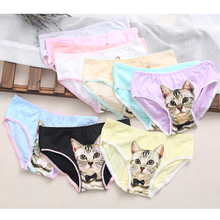 Buy Hot Selling Cotton Panties Women's Size Underwear Briefs 3D Printing Panty Cat Panties Sexy Girls Lingerie Intimates