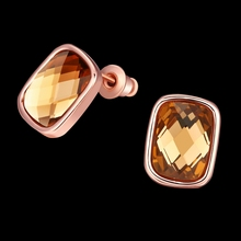 Special offer Fashion jewelry Rose gold color Crystal from Swarovski fit wedding party Women's fine Stud earrings