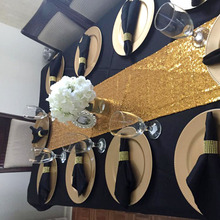 30*275 cm / 30*180cm Sequin Table Runners Gold Silver Sparkly Bling Table Runner Wedding Party Decorations Supply Accessories