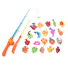 20X Fish Kids Magnetic Magnet Fishing Kid Children Eearly Educational Toy ,magnetic rod, rod children toy,Fishing Game #1JT