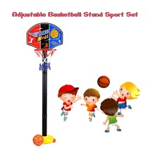 Kids Basketball Stand Outdoor Indoor Sports Train Adjustable Basketball Hoop Toy Set Stand Ball Backboard Net Children Toy(China)