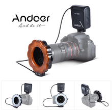 Andoer SL-102C GN15 Macro LED Ring Round Flash Fill-in Light LCD Display Speedlite for Canon Nikon Pentax Olympus DLSR Camera
