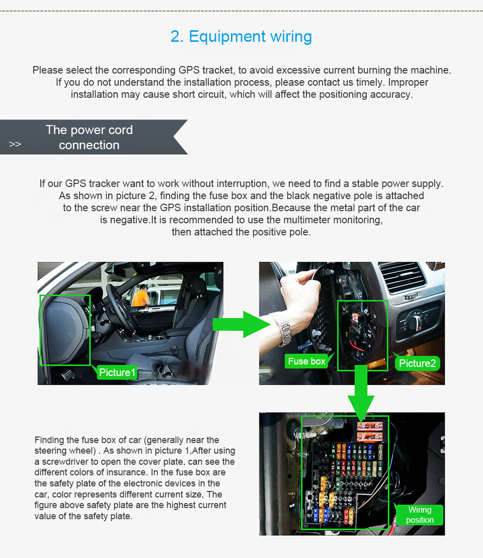 2018 Concox Gps Tracker Installation For Gv20 Gt06e Gt06f Gt06n How To Test Car Fuse Box With Multimeter Steps First Using Prepare The Sim Card Connect Power Set Apn Server Then Check Led Status Lastly Login Tracking Platform And App
