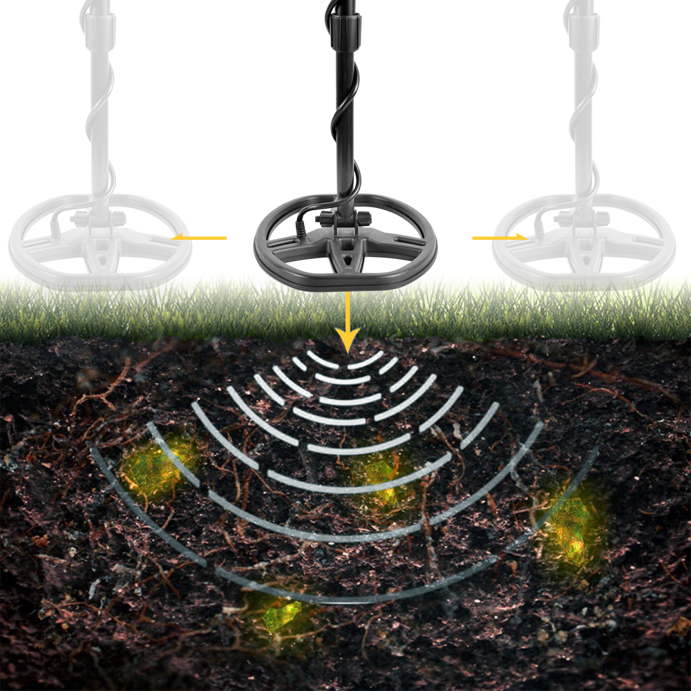 Professional Metal Detector Underground Depth 2.5m Scanner Finder Gold Digger Treasure Hunter Detecting Equipment Wire Detector