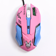 Newest Gaming Mouse 2400 DPI 6 Buttons USB Wired Optical Cute Gamer Mice Flash LED Lights for PC Laptop CF LOL Player(China)