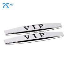2pcs Car Side Fender Stickers Metal Emblem for VIP for Camry Octavia VW Golf Kia Sorento Lexus Suzuki Jimny Ford Fiesta Toyota