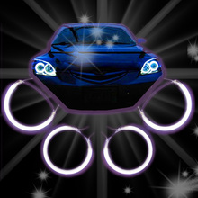 4 PCS / SET  CCFL ANGEL EYES HALO RINGS KIT HEADLIGHTS WHITE BLUE YELLOW RED FOR  MAZDA 3 2004 2005 2006 2007 2008