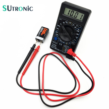 DT-830D Mini Digital Multimeter with Buzzer Overload protection Square Wave Output Voltage Ampere Ohm Tester Probe DC AC LCD