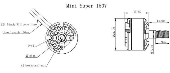 5Pcs Garila J1507 Brushless Motor 3755KV 3-4S FPV Racing Combo for FPV Racer Drone Aluminum DIY Multirotor Frame Spare Parts
