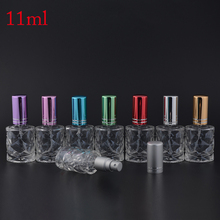 MUB - New Fashion 10ML Empty Glass Perfume Bottles With Sprayer,Unique Botella DePerfume Recargable Con Spray