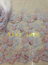 MX002 butterfly 3D fashion show embroidery tulle mesh lace for stage show  wedding evening dress party e7e73de875a9
