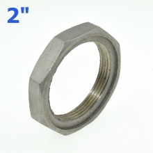 "2Pcs 2"" / DN50 Thread Nuts Metal Lock Nut 56.5mm Inner Dia. O-Ring Groove SS Pipe Fittings 304SS Stainless Steel"