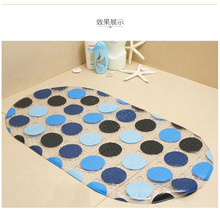 Bath mat P simple stones antibacterial carpet mats black and white pebbles bathroom mat PVC bath mat Please support students