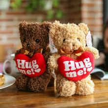 Classical teddy bear toys with red heart hug me plush animal doll high quality gift toys handmade soft toy 30cm/40cm