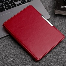 "PU Leather Ebook Case cover + Screen protector + Touch Pen For Kindle Paperwhite 6"" Tablet flip case with Holder stand function"