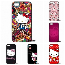 For iPhone 4 4S 5 5C SE 6 6S 7 8 Plus X Samsung Galaxy Grand Core Prime Alpha Cartoon Hello kitty Pastel Artwork Hard Phone Case(China)