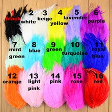 50pcs/lot 16 Color For U Pick 3.9 Inch Fascinator Rooster Hackle Feather Pads Hair Accessories Handmade Supply TH18