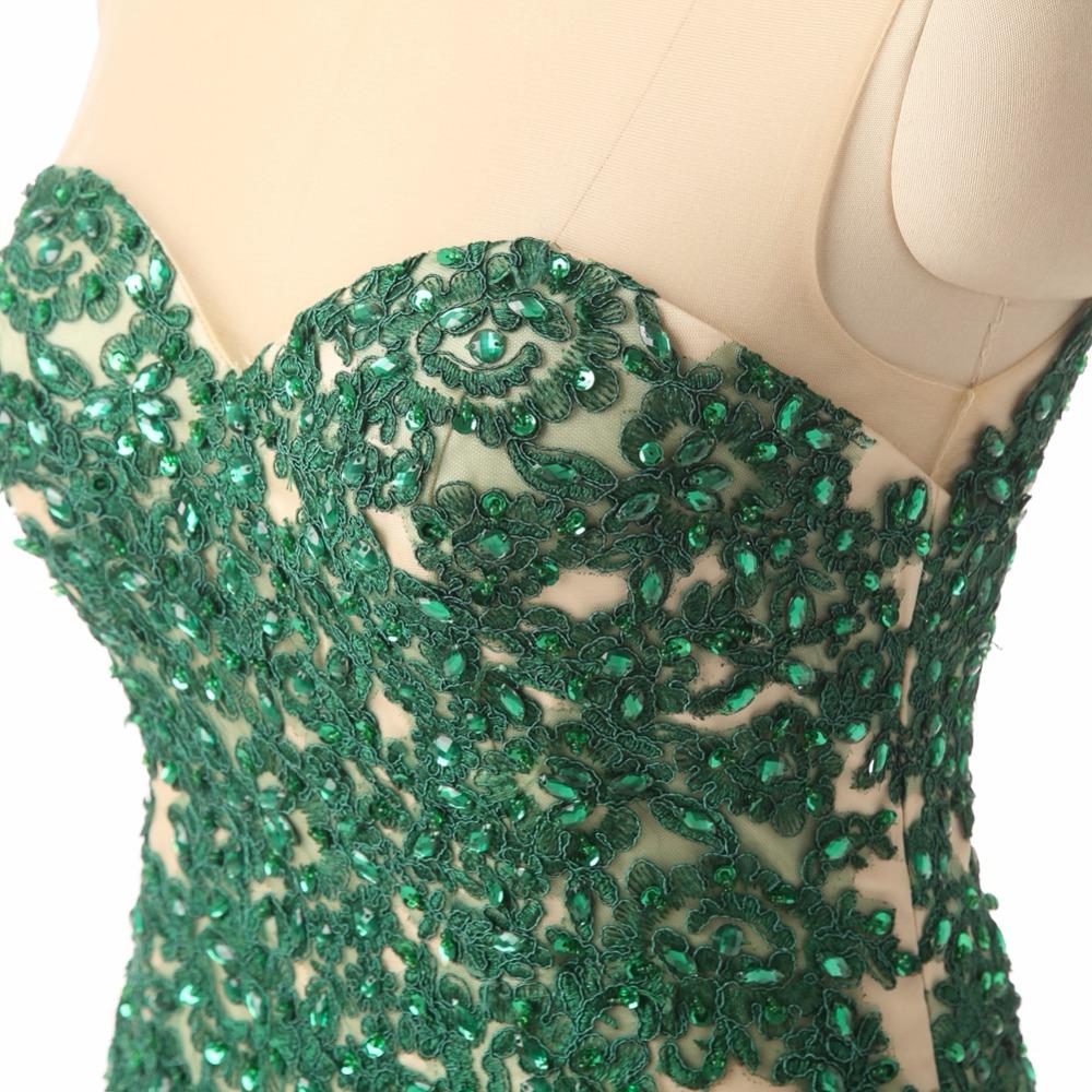 green prom dressf