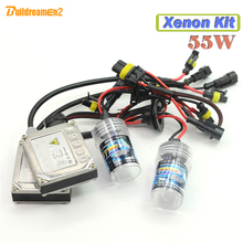 Buildreamen2 55W Xenon Ballast Bulb HID KIT 8000K Car Headlight Fog DRL Lamp H1 H3 H7 H8 H9 H11 880 881 9005 HB3 9006 HB4(China)