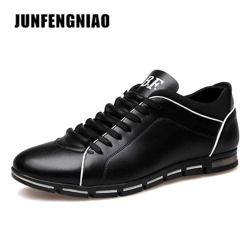 JUNFENGNIAO Big Size 37-48 Men Casual Shoes Fashion Leather Shoes for Men Summer Mens Flats loafers Shoes Dropshipping JH-868<br>