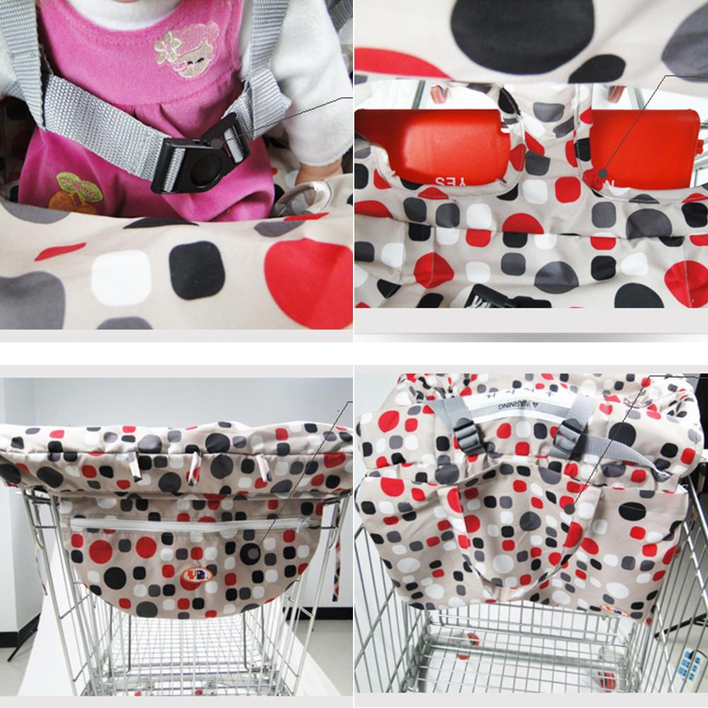 Mother & Kids Shopping Cart Covers New Baby Children Supermarket Shopping Cart Seat Dining Chair Cushion Protection Safe Travel Portable Shopping Cart Cushion
