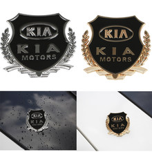 2pcs/lot 3D Metal Car-Styling VIP Emblem Stickers For KIA rio ceed sportage sorento k2 k3 k4 k5 k6 soul Stickers Accessories(China)