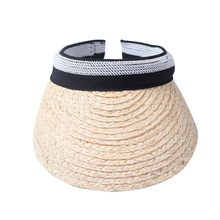 Rafi Grass Empty Hat Women Summer Straw Hat Sunscreen No Top Hat Korean Version of Sun Protection UV Sun Women's Beach Hats