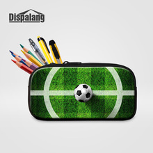 Dispalang Women Fashion Cosmetic Case Makeup Pouch School Pencil Case Boys 3D Printing Soccers Design Pen Bags Storage PencilBox(China)
