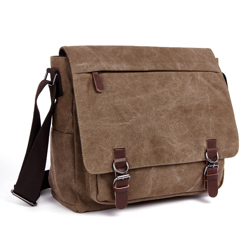 Mens Single Shoulder Crossbody Bag New Canvas Bag Computer Bag Korean Style Bag<br>