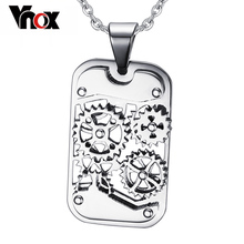 Vnox Fashion Steampunk Machine Pendants Jewelry Stainless Steel Gear Design Men Pendants&Necklaces Jewelry Cool