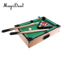 MagiDeal Mini Billiard Ball Snooker Tabletop Pool Table Desktop Game Set for Children's Play Sports Balls Sports Toys Xmas Gifts(China)