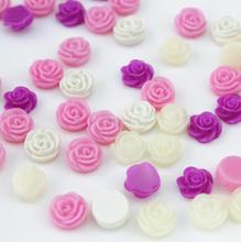 300pcs Resin Cabochons Flower Flatback decoden Flat Back mixed cameo covers- Bobby Pins, Pendants 11mm d25