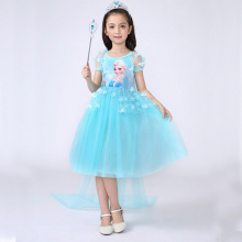 3-10y Elsa dress Halloween Birthday Fancy Kids Dress and cape children clothing Sofia Princess Baby Girls Costume Party Dresses